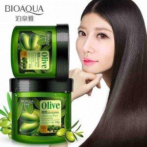 Bioaqua, Питательная маска для волос с экстрактом оливкового масла Olive Hair Mask, 500 мл