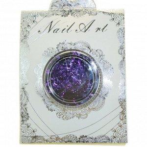 Nail Art, хлопья юки Фейерверк (цвет фиолетовый)