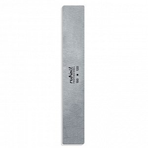 Профессиональная пилка для искусственных ногтей (серая, прямая, 100/120), RuNail