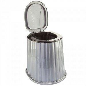Стульчак для уличного туалета, пластик, черно - серебрянный
