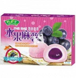"Японское рисовое пироженое  моти ""Голубика""  6 шт  180 гр. 1/24  Тайвань"