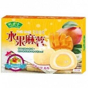 """Японское рисовое пироженое  моти  """"Манго"""" 6 шт  180 гр. 1/24  Тайвань"""
