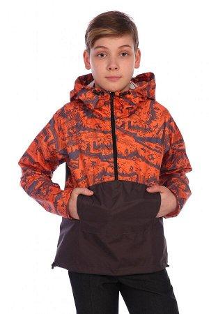 Анорак Характеристики: Состав- п.э.; Материал: курточная ткань Анорак для мальчиков изготовлен из курточной ткани. Он защитит от ветра и дождя. Чтобы обеспечить воздухообмен, под проймой обработаны от