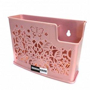 Органайзер пластиковый ажурный, розовый