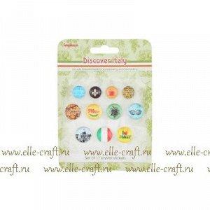 Акриловые камушки со стикером, коллекция Итальянские каникулы