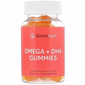 GummYum!, Жевательные таблетки с омега и ДГК, с разными натуральными ароматизаторами, 60 шт.