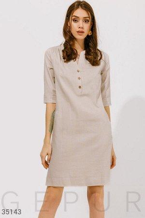 Льняное комфортное платье