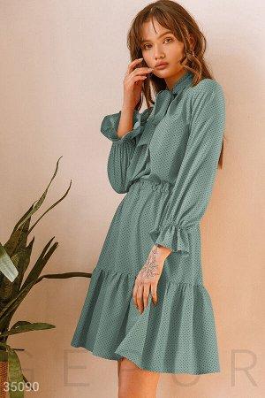 Платье в мелкий контрастный горох
