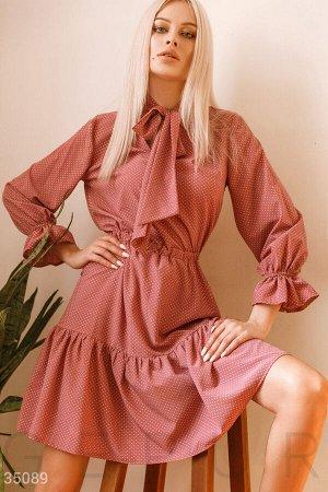 Романтичное платье с завязками