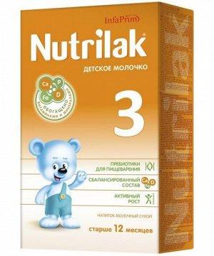 Нутрилак (Nutrilak) 3 детское молочко напиток молочный сухой с 1 года до 3 лет, 350 гр.