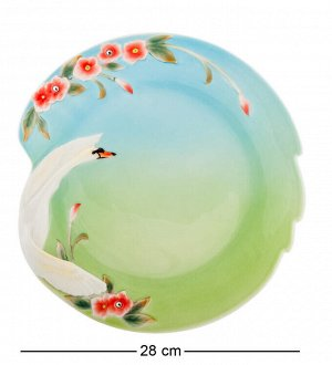 """Блюдо """"Лебеди""""  (Pavone), диаметр 28 см."""