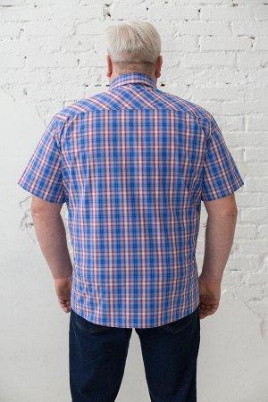 20168/3 Основная ткань: рубашечная ткань Состав: 60% хлопок, 40%ПЭ Цвет: голубой