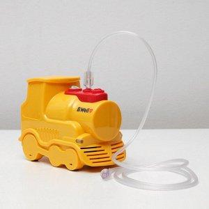 "Ингалятор (небулайзер) B.Well PRO-115 ""Паровозик"", компрессорный, 8 мл, 54 дБ, жёлтый"