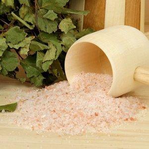 """Гималайская красная соль """"Добропаровъ"""" с маслом сосны, 2-5мм, 300гр"""