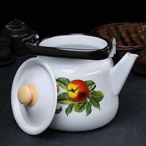 Чайник сферический 3,5 л, рисунок МИКС