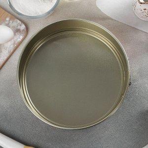 Форма для выпечки разъёмная «Русский узор», d=22,5 см, с антипригарным покрытием