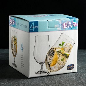 "Набор фужеров для пива 550 мл ""Бар"", 4 шт"