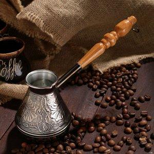 Турка для кофе медная «Цветок», 0,2 л