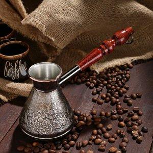 Турка для кофе медная «Весна», 0,3 л