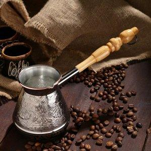 Турка для кофе медная «Цветок», 0,4 л
