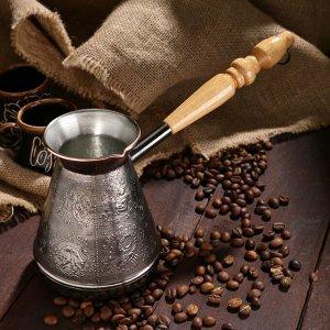 Турка для кофе медная «Зодиак», 0,6 л