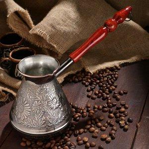Турка для кофе медная «Ромашка», 0,7 л