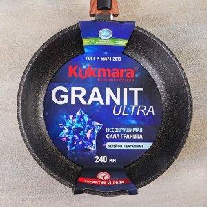 Сковорода Granit ultra original со съёмной ручкой, d=24 см