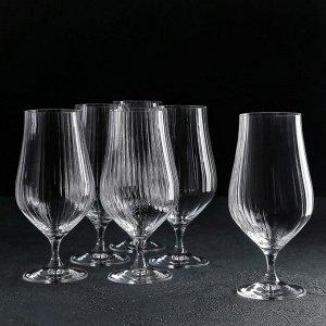 Набор бокалов для пива «Тулипа», 540 мл, 6 шт