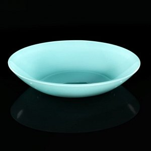 Тарелка, d=20 см, бирюзовая
