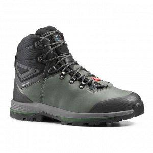 Ботинки водонепроницаемые кожаные для трекинга широкие мужские - TREKKING 100 FORCLAZ