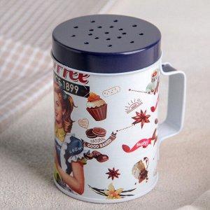 Ёмкость-солонка для сыпучих продуктов Coffee, 100 мл, с ручкой