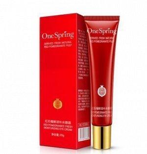 786834 One spring POMEGRANATE Увл. крем для кожи вокруг глаз с экстр. красного граната,20г,12шт/уп