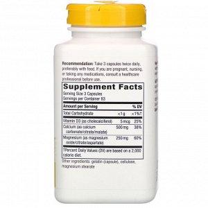 Nature&#x27 - s Way, Комплекс с кальцием, магнием и витамином D, 250 капсул