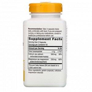 Nature&#x27 - s Way, Calcium & Magnesium Mineral Complex, 750 mg, 250 Capsules