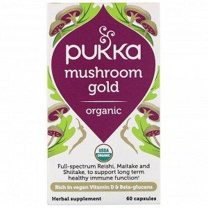 Pukka Herbs, Органическое золото грибов, 60 капсул