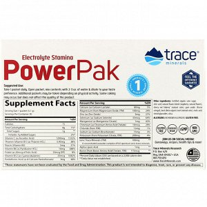 Trace Minerals Research, Electrolyte Stamina PowerPak, Raspberry, 30 Packets, 0.18 oz (5.1 g) Each
