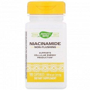 Nature&#x27 - s Way, Никотинамид, 500 мг, 100 капсул