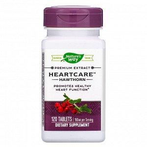 Nature&#x27 - s Way, HeartCare, стандартизированный боярышник, 120 таблеток