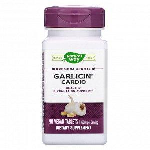 Nature&#x27 - s Way, Garlicin Cardio, 90 Vegan Tablets
