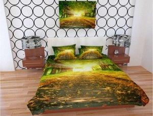 Фотопокрывало 1,5 спальное Магический осенний парк