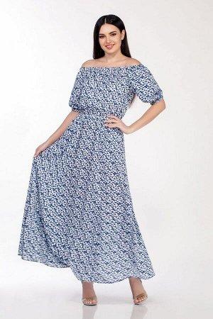 Платье LaKona Артикул: 1307 сине-белый
