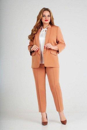 Блуза, брюки, жакет Lady Line Артикул: 455 терракот