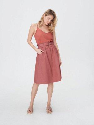Расклешенная юбка с поясом