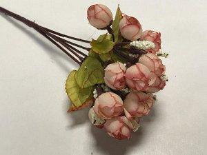 Букет розочек мини 22см цвет пыльная роза