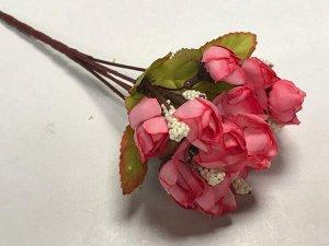 Букет розочек мини 22см цвет розовый