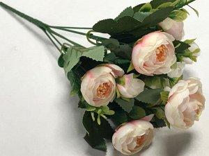 Букет пионов мини 29 см цвет  бледно-розовый.