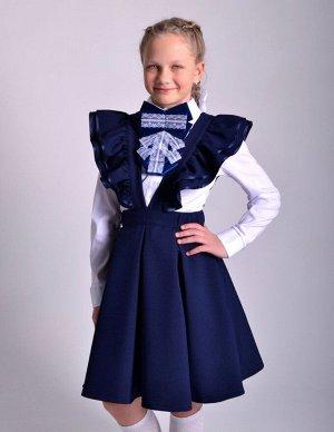 Школьная юбка Карамель синяя