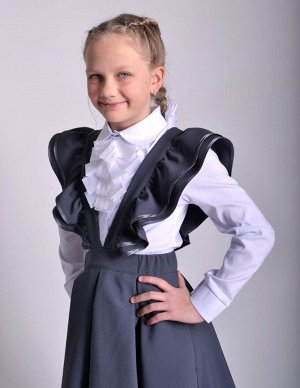 Школьная юбка Карамель серая