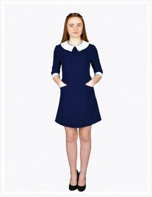 Школьное платье Лиза Темно-синее