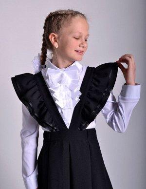 Школьная юбка Карамель черная
